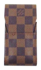Louis Vuitton Cigarette Pouch Case Damier Canvas Leather