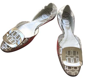 Roger Vivier Leather silver Flats