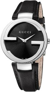 Gucci Guci Interlocking Leather Ladies Watch YA13301