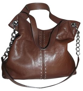 Michael Kors Studded Leather Soft Buttery Leather Hobo Bag