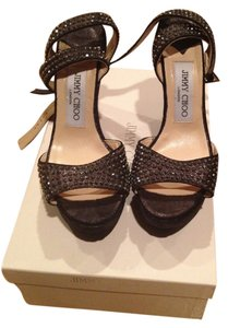 Jimmy Choo Dark grey rhinestone wedge Wedges