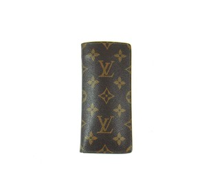 Louis Vuitton Vintage Etui Lunettes Simple Glasses Case Monogram Canvas Leather