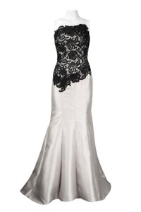 Adrianna Papell Strapless Mermaid Crochet Floral Gown Dress