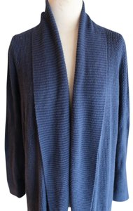 Ann Taylor LOFT Ribbed Navy Blue Cardigan