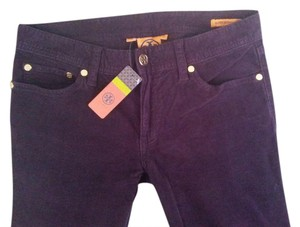 Tory Burch Super Plum Skinny Pants Purple