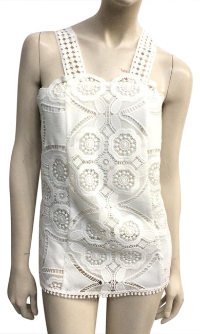 Preload https://img-static.tradesy.com/item/20769195/alexis-white-floral-lace-blouse-size-8-m-0-1-650-650.jpg
