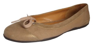Talbots Tan & Gold Flats