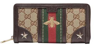 Gucci Gucci Vintage Web Embroidered Wallet