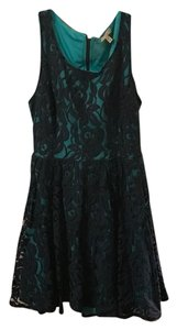 Love, Fire short dress Blue Lace on Tradesy