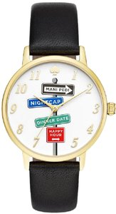 Kate Spade Kate Spade Metro Clocktower Gray Leather Ladies Watch KSW1128