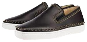 Christian Louboutin Loafer Spike Boat Studded Cador Black Flats