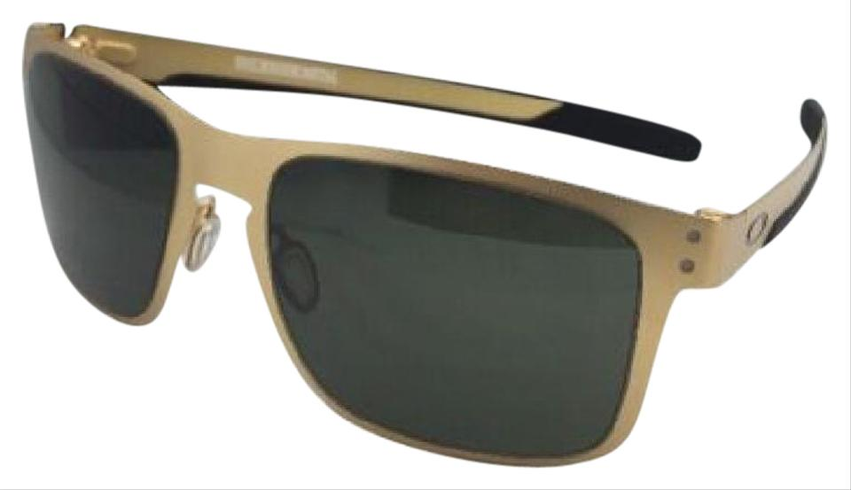 9094e010a42 Oakley New Oakley Sunglasses HOLBROOK METAL OO4123-08 Satin Gold Frame w  Grey Image ...