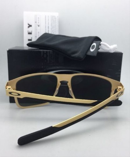 Oakley New Oakley Sunglasses HOLBROOK METAL OO4123-08 Satin Gold Frame w/Grey Image 1