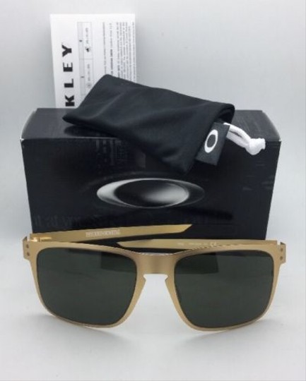 Oakley New Oakley Sunglasses HOLBROOK METAL OO4123-08 Satin Gold Frame w/Grey Image 4