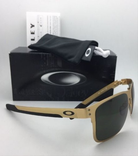 Oakley New Oakley Sunglasses HOLBROOK METAL OO4123-08 Satin Gold Frame w/Grey Image 5