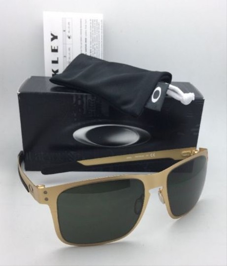 Oakley New Oakley Sunglasses HOLBROOK METAL OO4123-08 Satin Gold Frame w/Grey Image 7