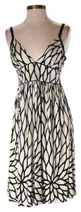 Julie Brown short dress Off-white and Black Formal Silk on Tradesy
