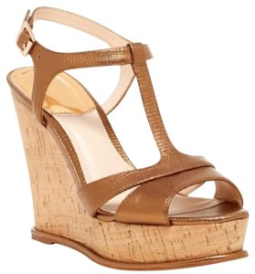 Vince Camuto Metallic Gold Wedges