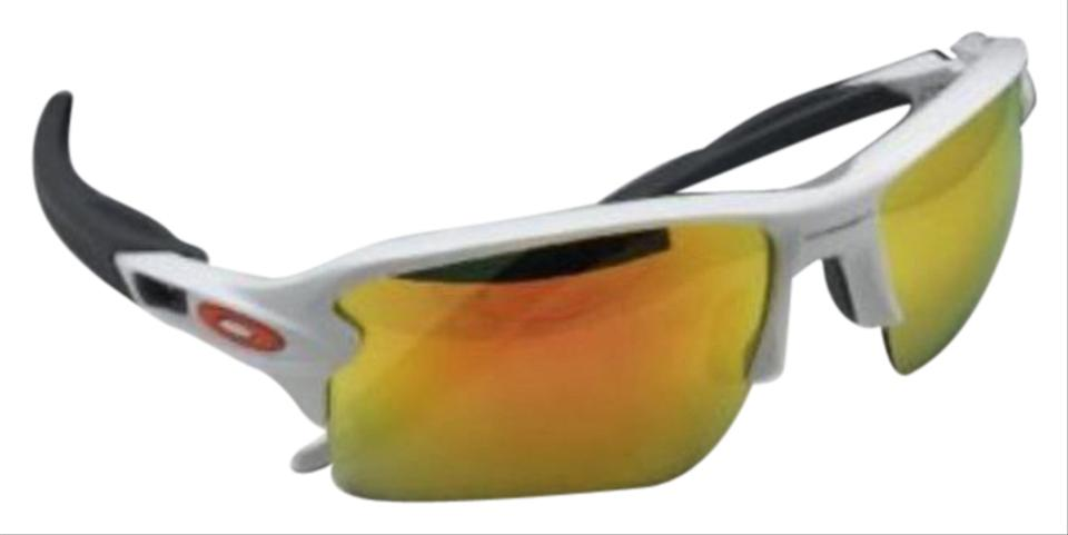 78bf6fdda0 Oakley New OAKLEY Sunglasses FLAK 2.0 XL OO9188-19 White Frame w Fire  Iridium ...