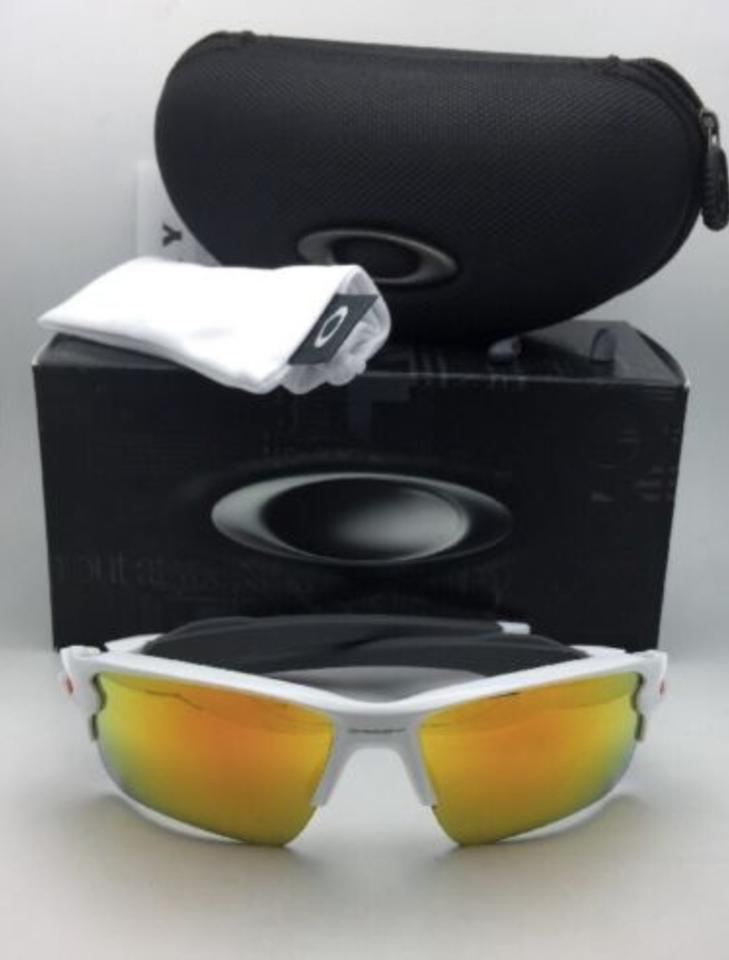 34bea803d3 Oakley New OAKLEY Sunglasses FLAK 2.0 XL OO9188-19 White Frame w Fire  Iridium. 123456