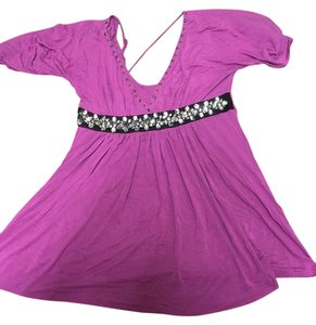 Soul Revival Studded Sparkle Tassle Top Fushia