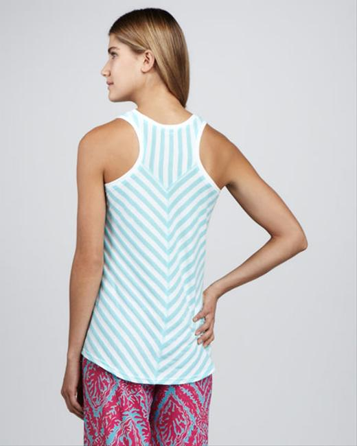 Lilly Pulitzer Racer-back Casual Top Blue Image 1