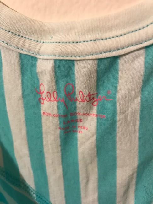 Lilly Pulitzer Racer-back Casual Top Blue Image 2