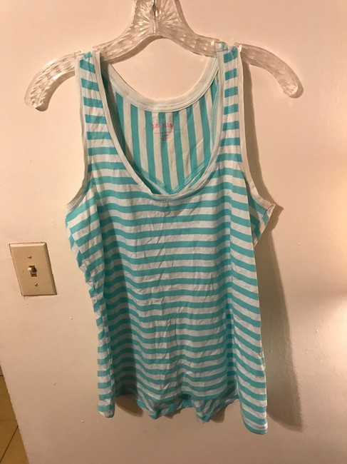 Lilly Pulitzer Racer-back Casual Top Blue Image 4