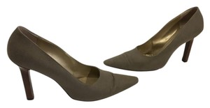 Saint Laurent Lining Soles Stack Wood Heels Made Italy Vintage brown fabric all else leather Italian Pumps