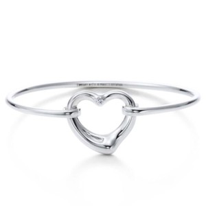 Tiffany & Co. Tiffany & Co. Open Heart Diamond Bangle by Elsa Peretti