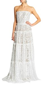 Lanvin Vintage Lace Scalloped Strapless Dress