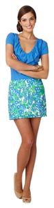 Lilly Pulitzer Callie Bee In Your Bonnet Mini Skirt Blue, green, white