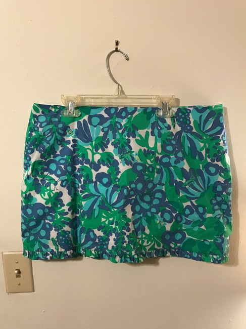 Lilly Pulitzer Callie Bee In Your Bonnet Mini Skirt Blue, green, white Image 2