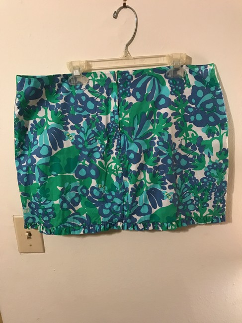 Lilly Pulitzer Callie Bee In Your Bonnet Mini Skirt Blue, green, white Image 3