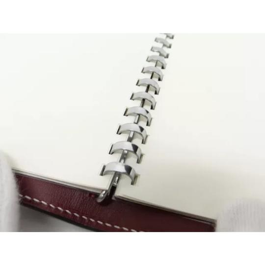 Hermès hermes burgundy leather agenda cover notebook diary day planner Image 11