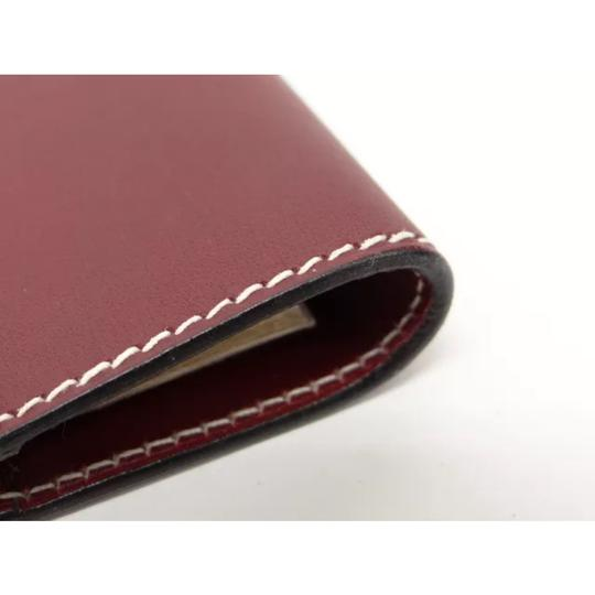 Hermès hermes burgundy leather agenda cover notebook diary day planner Image 2
