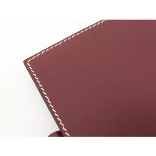 Hermès hermes burgundy leather agenda cover notebook diary day planner Image 4