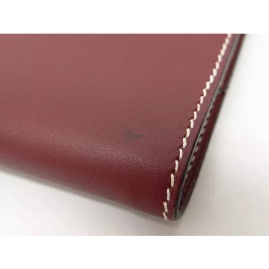 Hermès hermes burgundy leather agenda cover notebook diary day planner Image 5