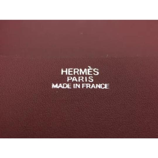 Hermès hermes burgundy leather agenda cover notebook diary day planner Image 7