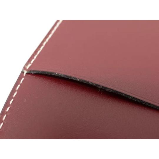 Hermès hermes burgundy leather agenda cover notebook diary day planner Image 8