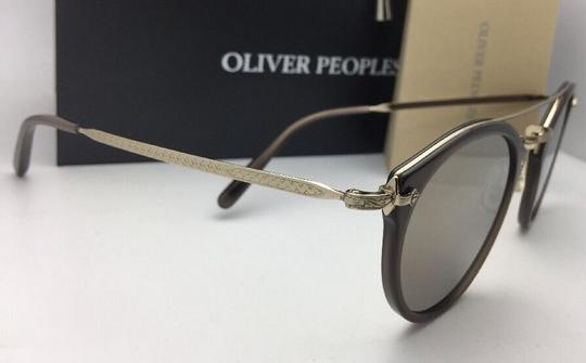 Oliver Peoples OLIVER PEOPLES Sunglasses REMICK OV 5349S 14736G Taupe & Gold w/Mirror Image 1