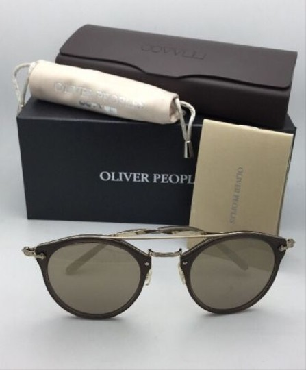 Oliver Peoples OLIVER PEOPLES Sunglasses REMICK OV 5349S 14736G Taupe & Gold w/Mirror Image 2