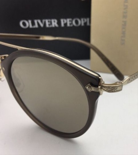 Oliver Peoples OLIVER PEOPLES Sunglasses REMICK OV 5349S 14736G Taupe & Gold w/Mirror Image 3