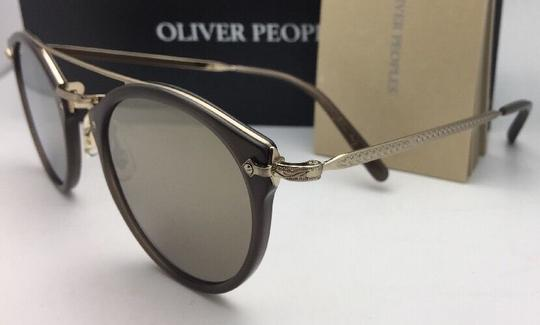 Oliver Peoples OLIVER PEOPLES Sunglasses REMICK OV 5349S 14736G Taupe & Gold w/Mirror Image 6