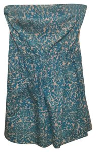 Lilly Pulitzer short dress Turquoise and off-white on Tradesy