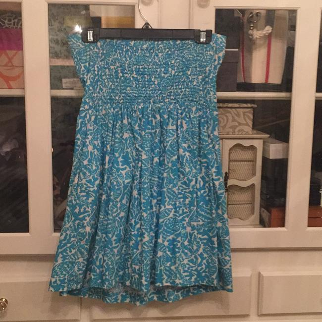 Lilly Pulitzer short dress Turquoise and off-white on Tradesy Image 1