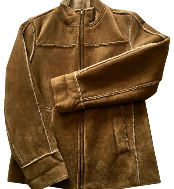 Item - Camel Suede Upper Shearling-lined Jacket Size 0 (XS)