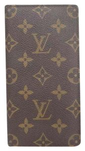 Louis Vuitton pocket agenda cover monogram day planner checkbook card holder case