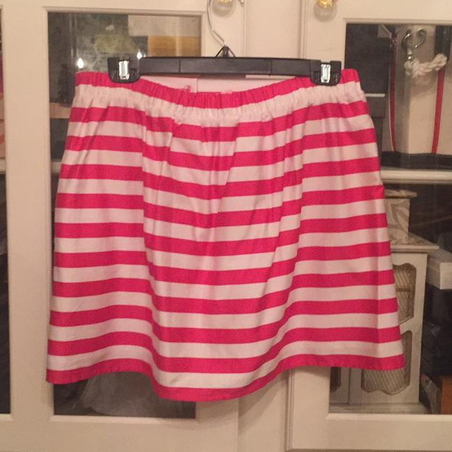 Lilly Pulitzer Mini Skirt Hot pink and white Image 1
