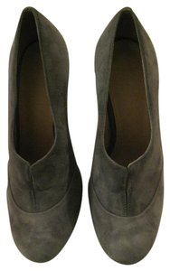 Topshop Suede Round Toe Stiletto Made In Brazil Gray Boots